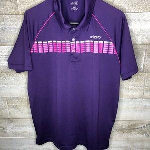 Adidas Adizero purple mens golf polo
